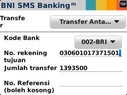 format bni sms banking 2018