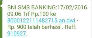 Informasi Format Sms Banking BNI ke Mandiri Terbaru