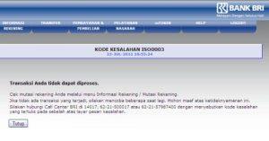 BRI Internet Banking Error Berikut Jam Dan Waktunya