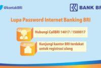 Begini Mengatasi Saat BRI Internet Banking Lupa Password